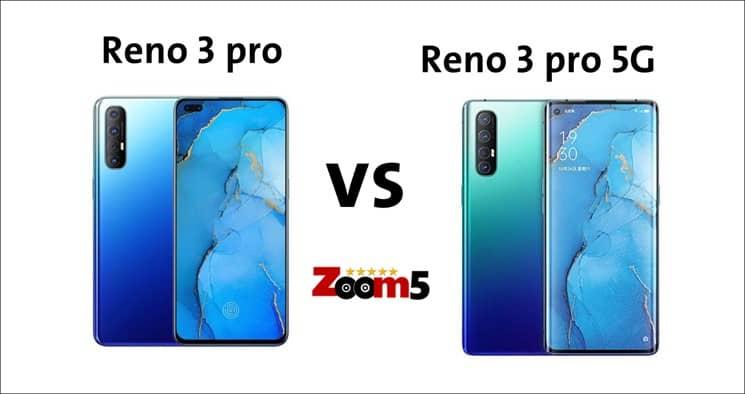 مقارنة مع اوبو رينو 3 5G
